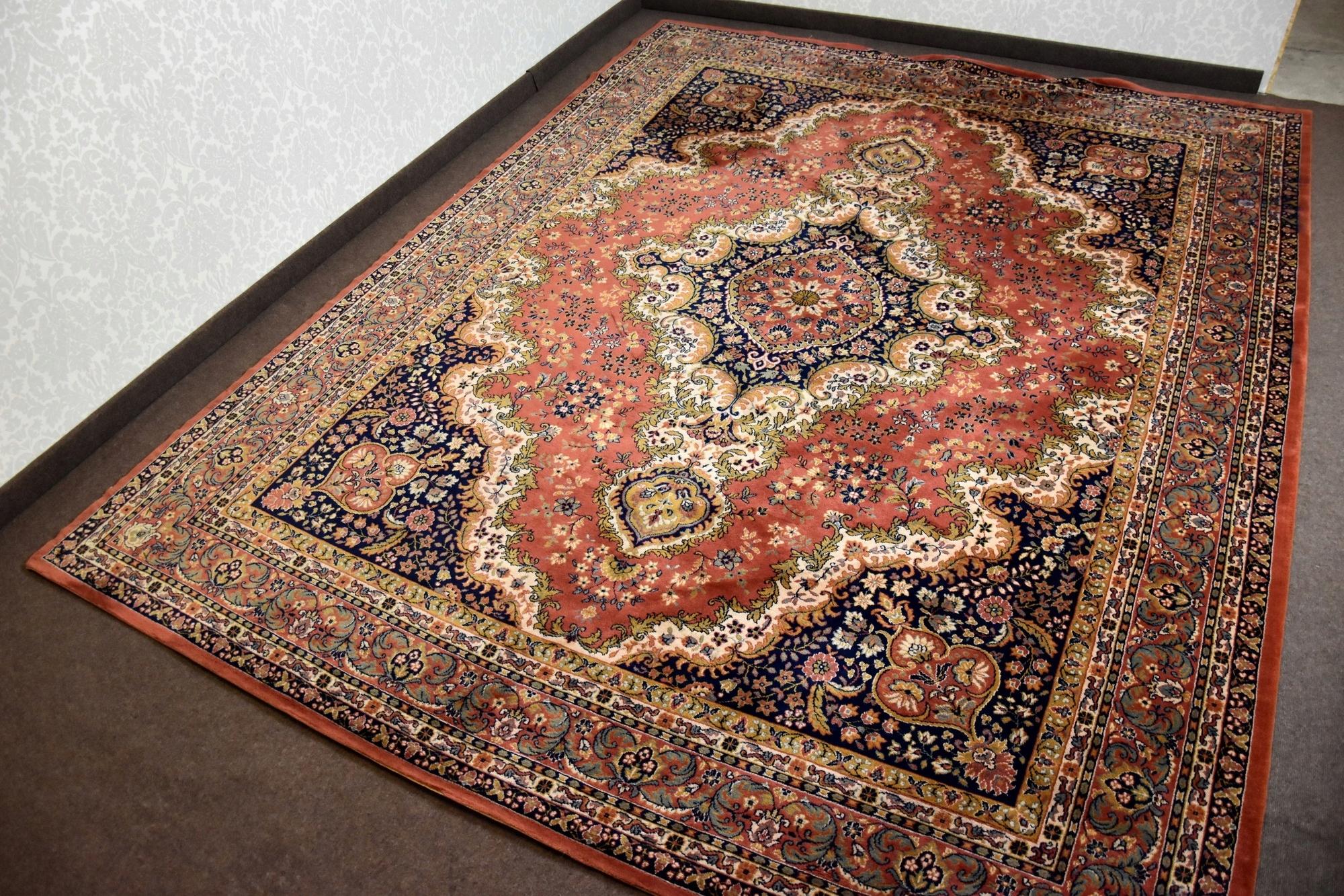 Orientalny Dywan 390x300 Wełna Czesankowa Wełniany