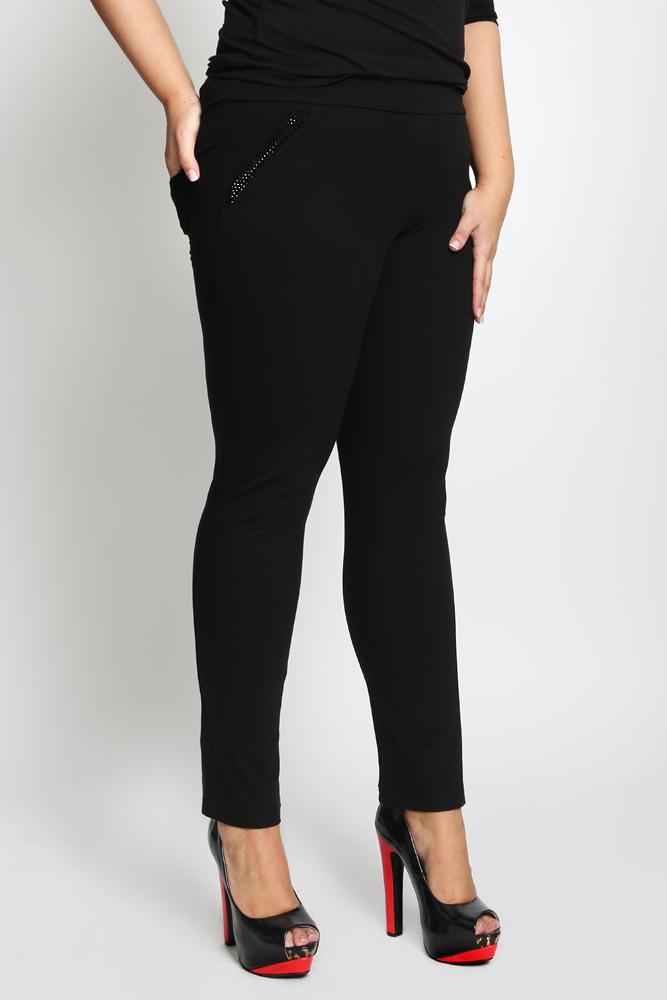 7a7d3262e6b4 Czarne spodnie GLAMOUR bawełna P41 PLUS SIZE 42 - 7044388798 ...