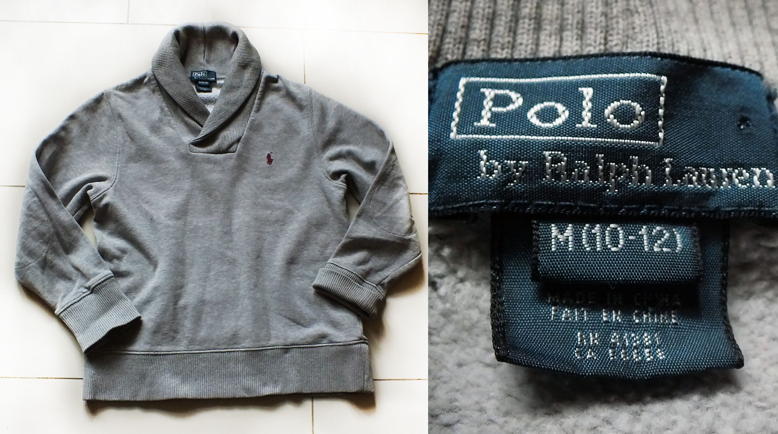 018349c5a POLO by RALPH LAUREN fajna bluza bawełniana 10/12L - 7313017689 ...