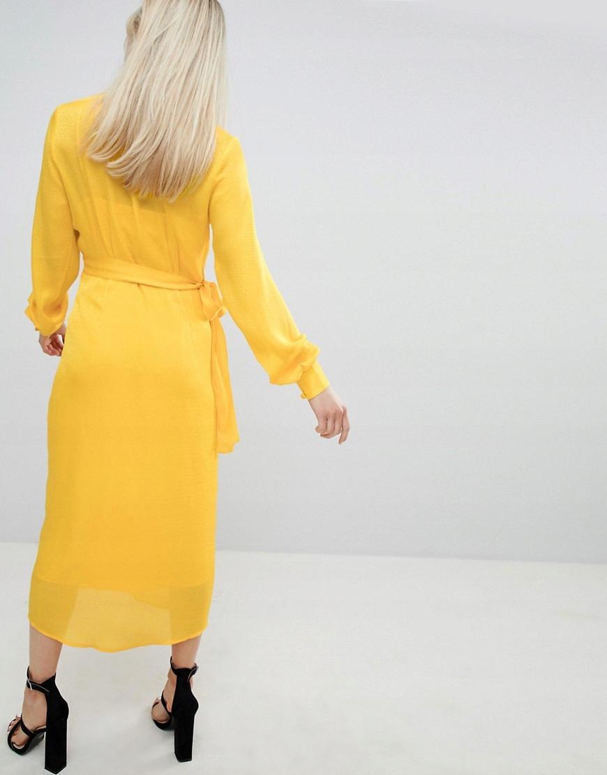 8bce4b6d05 sukienka MIDI żółta GUZIKI żakardowa XL 42 - 7373347657 - oficjalne ...