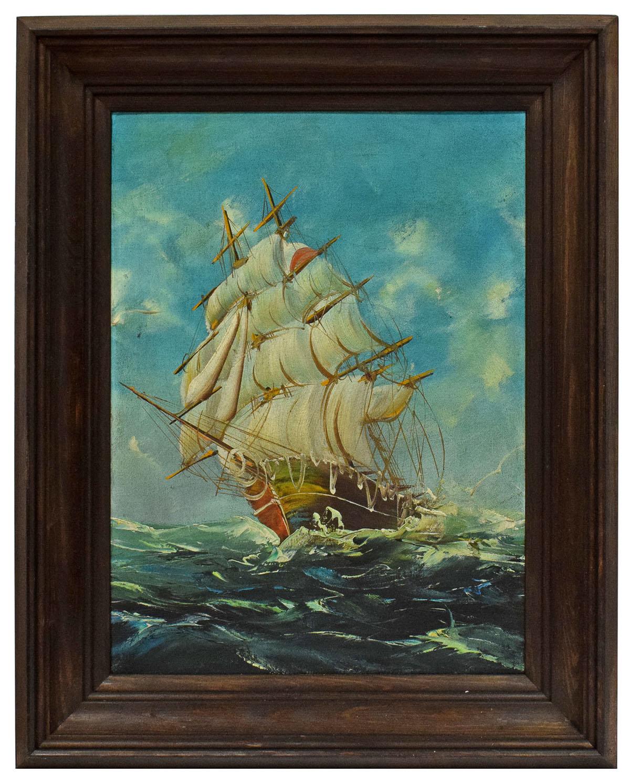 Genialny Olejny obraz statek na morzu 52x41,5 cm - 7054069037 - oficjalne TW68