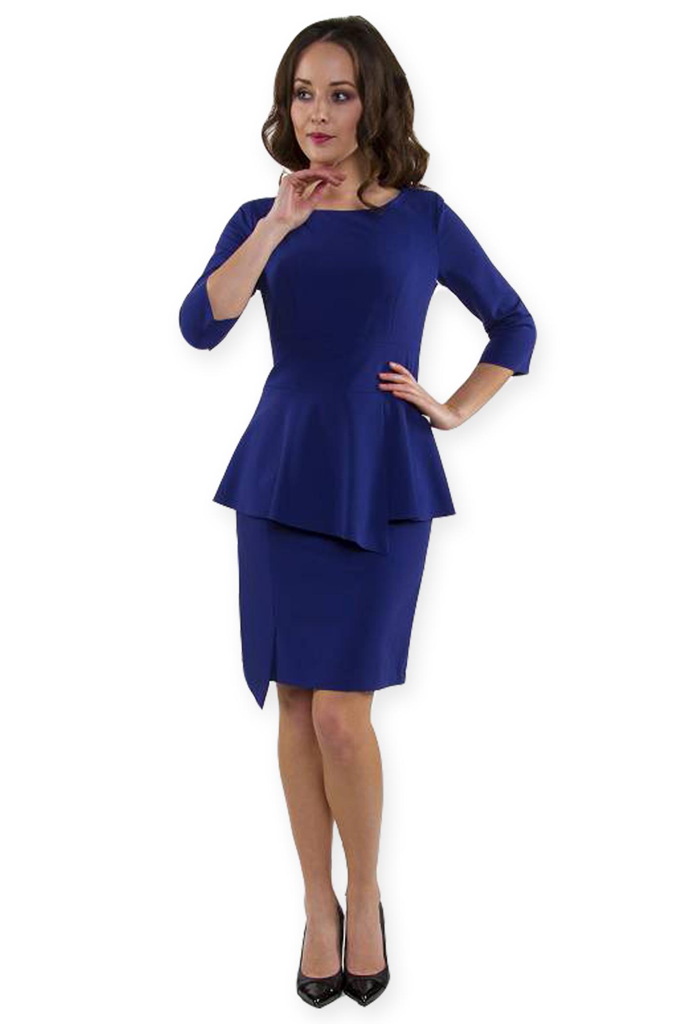 f08c437c13 Sukienka elegancka baskinka chabrowa 54 - 6923763515 - oficjalne ...