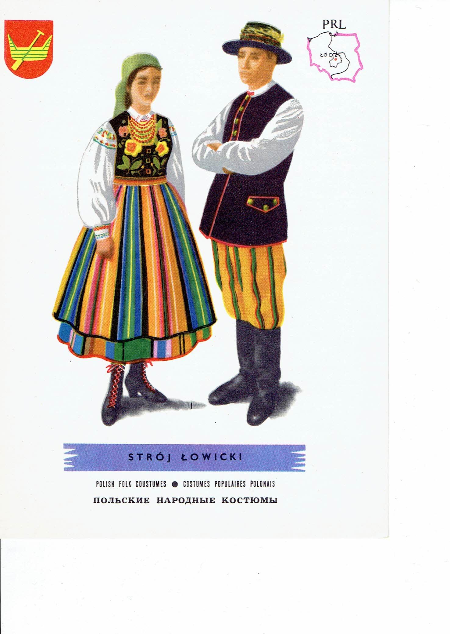 f5c9d07d9e9a15 STROJE LUDOWE strój ŁOWICKI - 7440798560 - oficjalne archiwum allegro