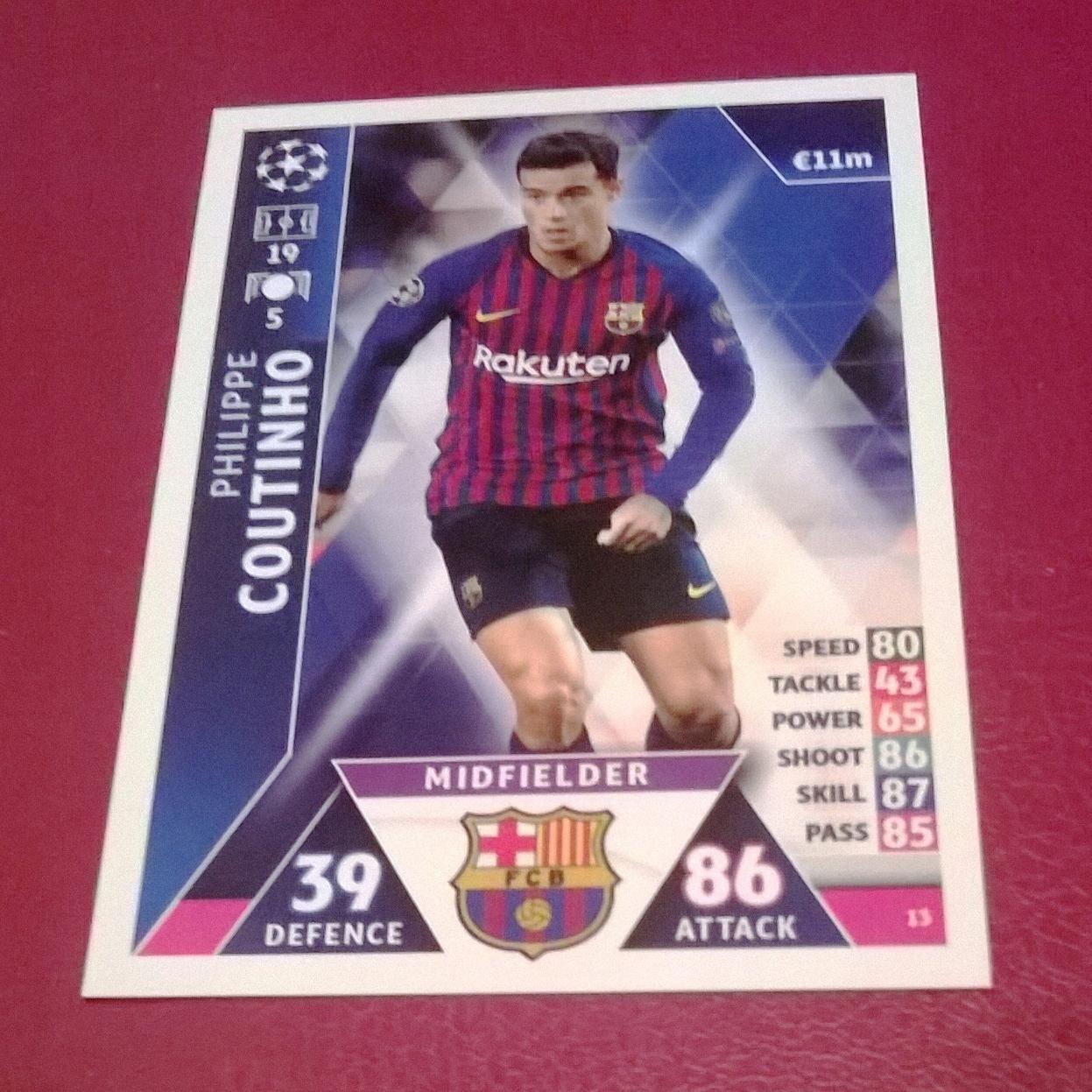 aa7ac0e81 Match Attax 18/19 - Coutinho (FC Barcelona) - 7589964308 - oficjalne ...