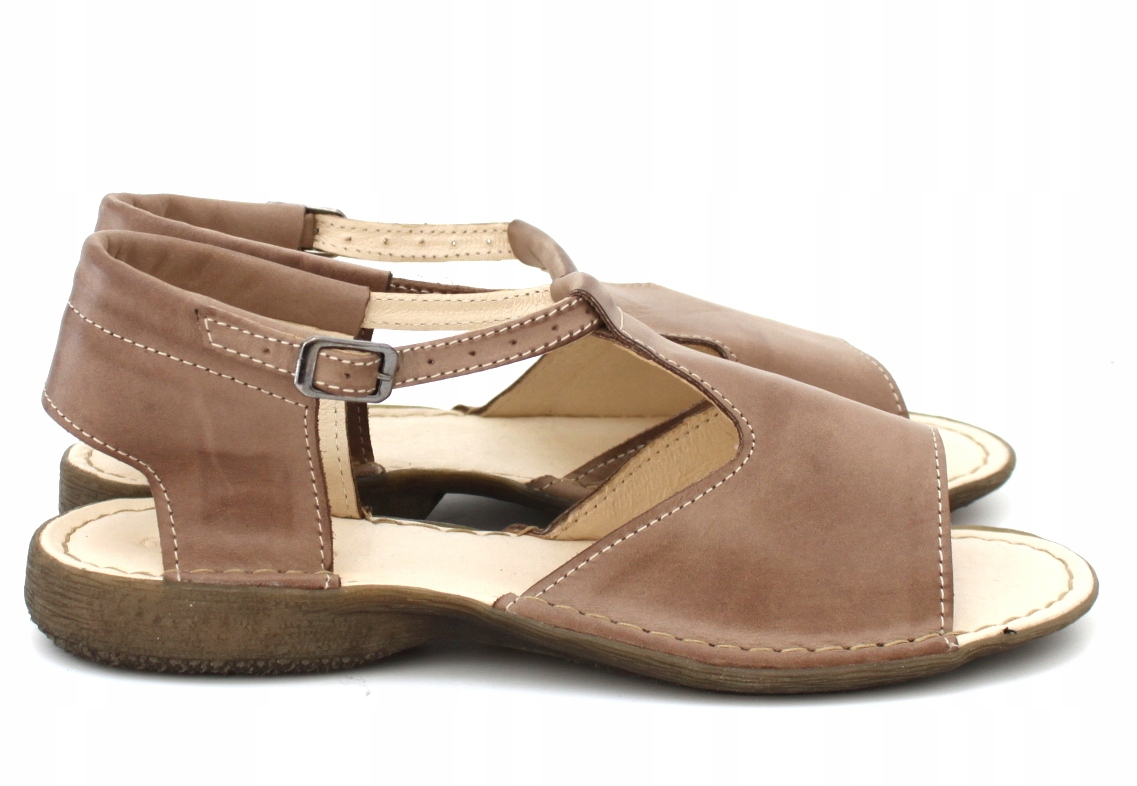 a5a37a35 Płaskie Oficjalne Sandały Skóra Wyprzedaż Beżowe 7519700721 38 g6YymIbf7v