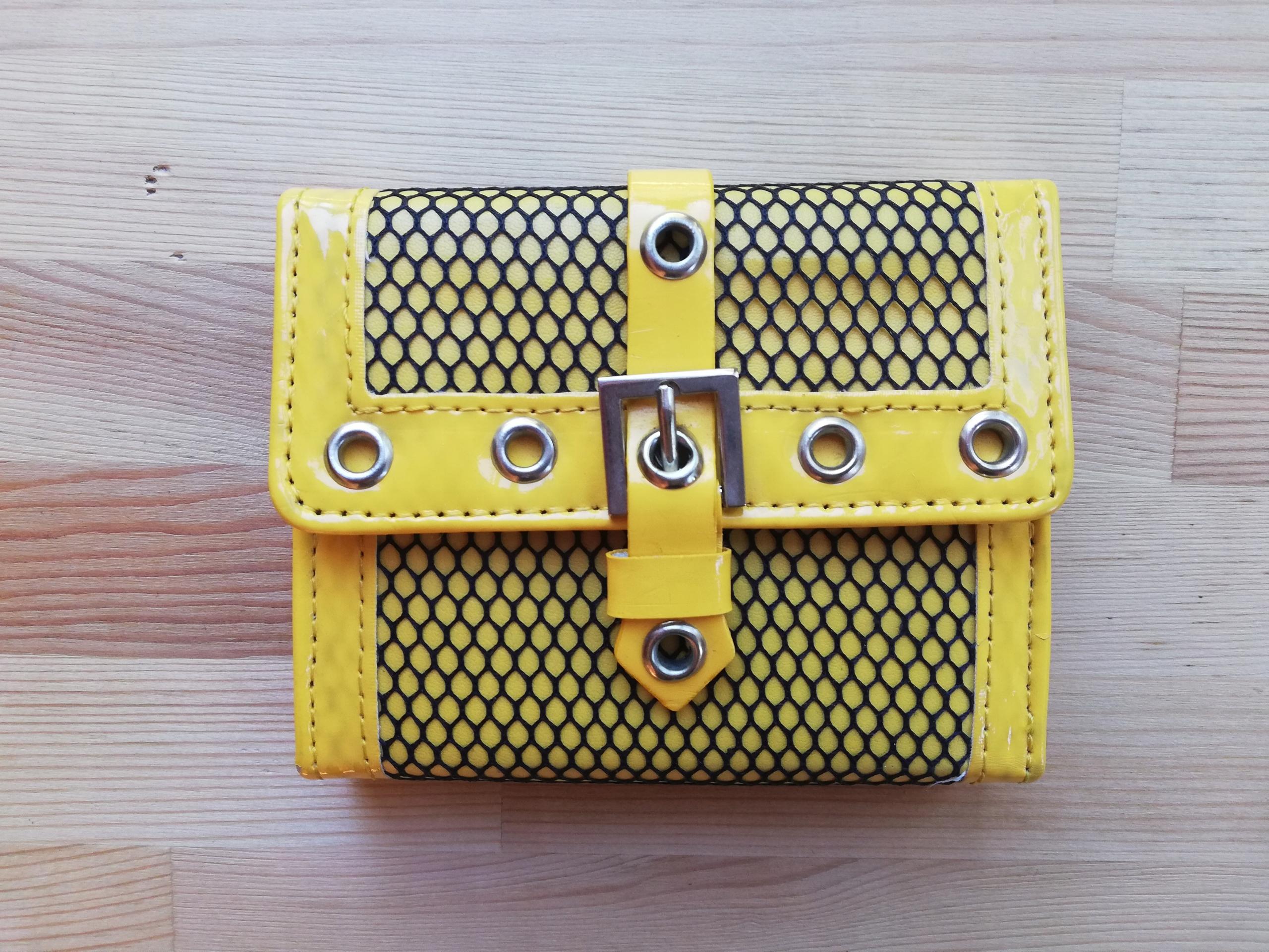 a2479121a8af3 Portfel CROPP żółty lakierowany przegródki stanBDB - 7671756992 ...