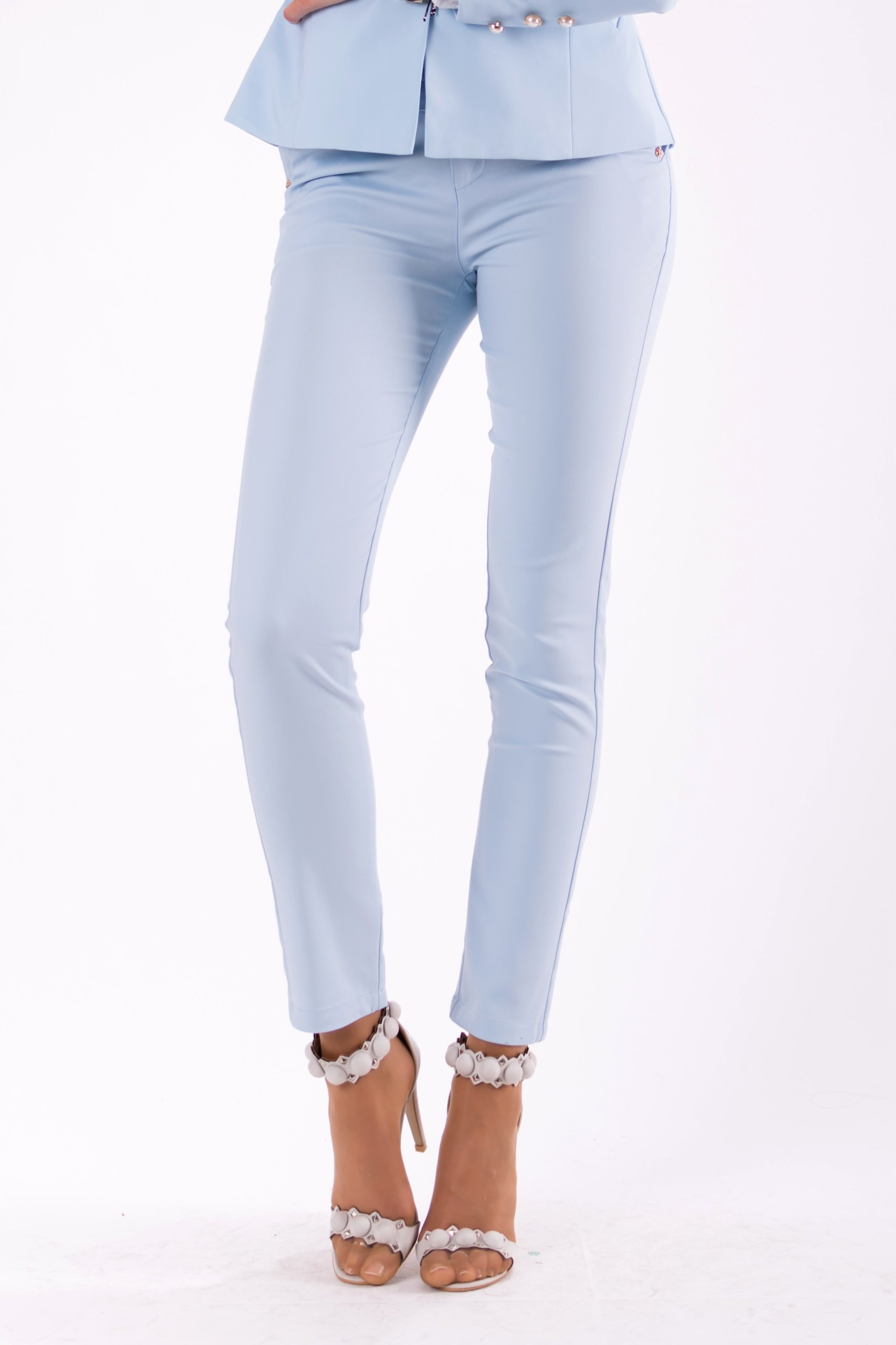 303c5ae675be63 Eleganckie spodnie damskie - błękitne M - 7233465094 - oficjalne ...