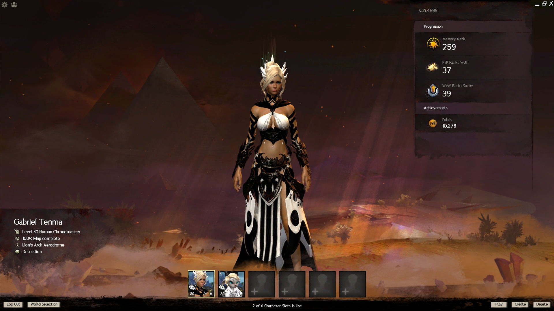 Guild Wars 2 konto