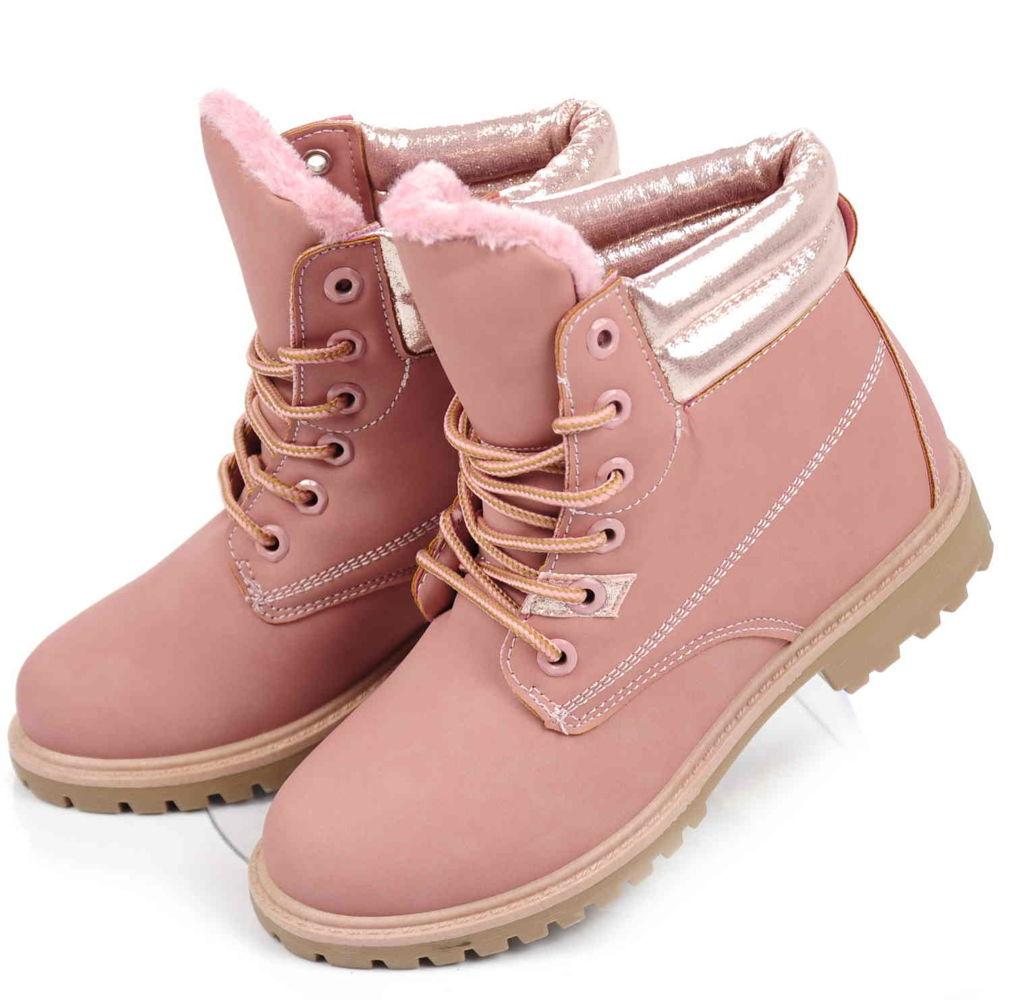01938425 BUTY Różowe trapery damskie TIMBERKI Ae13 41 - 7116868050 ...