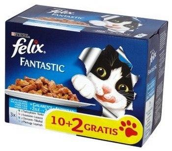 Felix Fantastic Ryba saszetki 12x100g 10+2