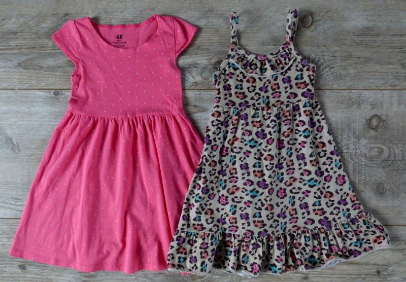 3169ecffc5 2 bawełniane sukienki na lato HM YD 2-4 - 7251205626 - oficjalne ...