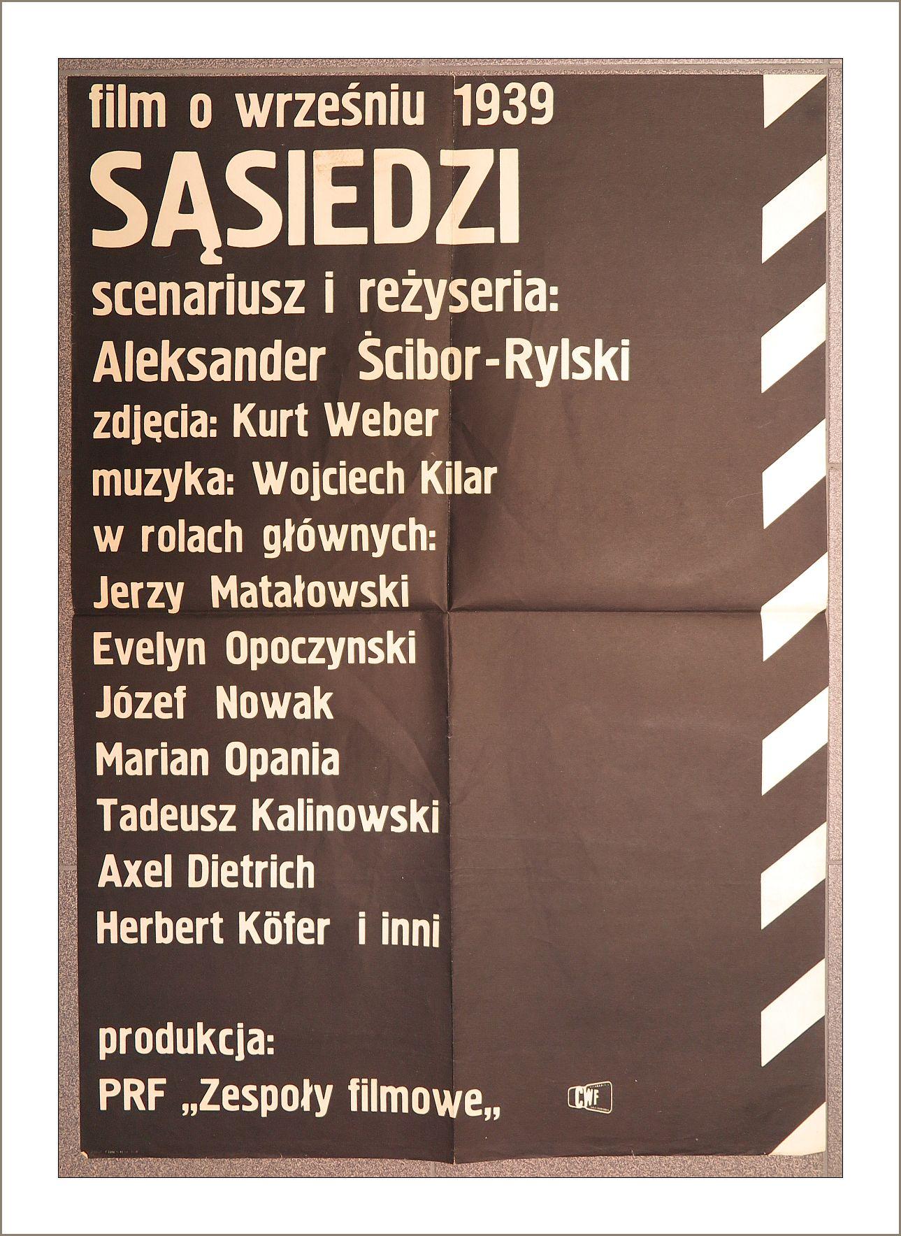 Stary Plakat Filmowy Sąsiedzi