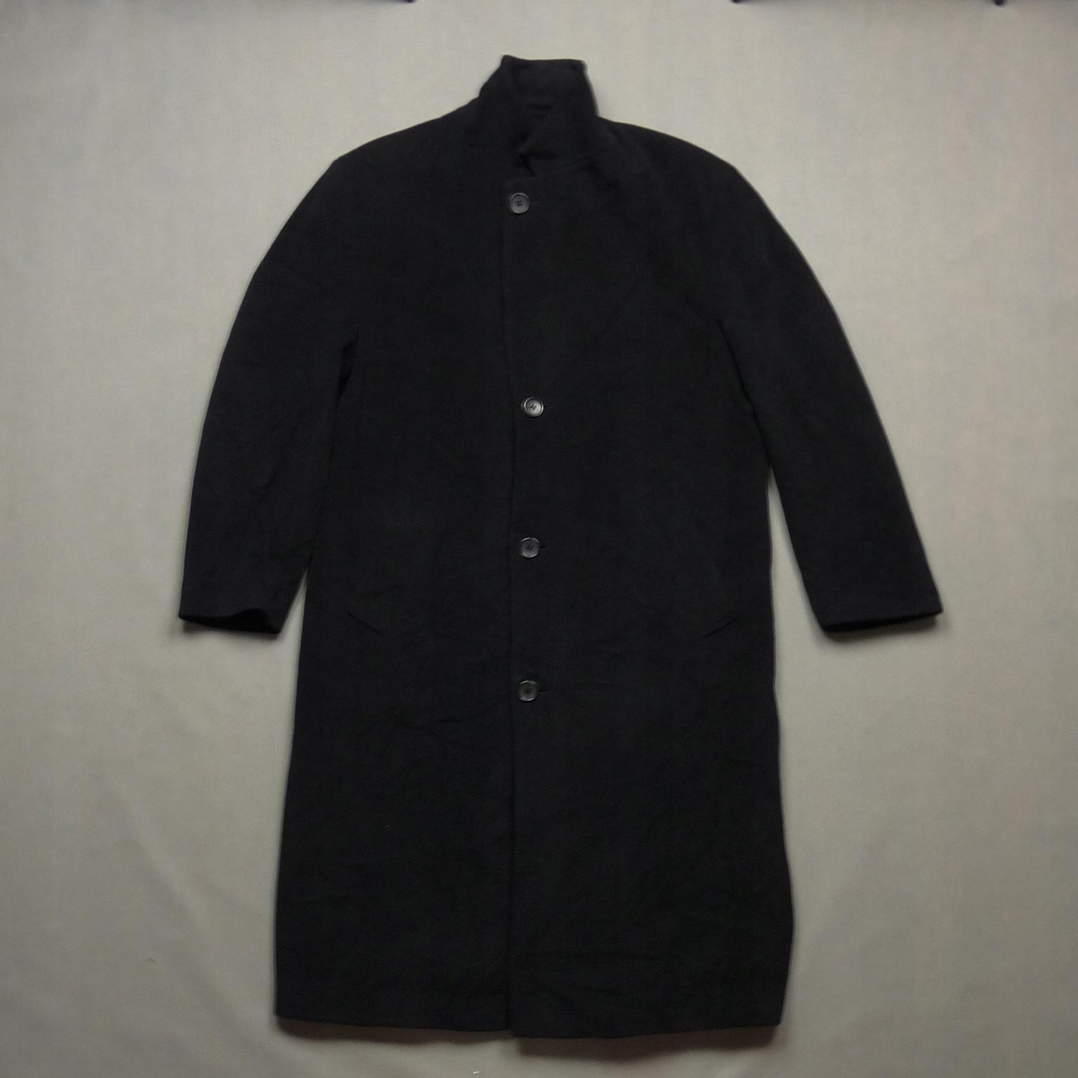 1176895c7b8be HUGO BOSS czarny wełniany płaszcz DE TOMASO 52 XL - 7609709199 ...