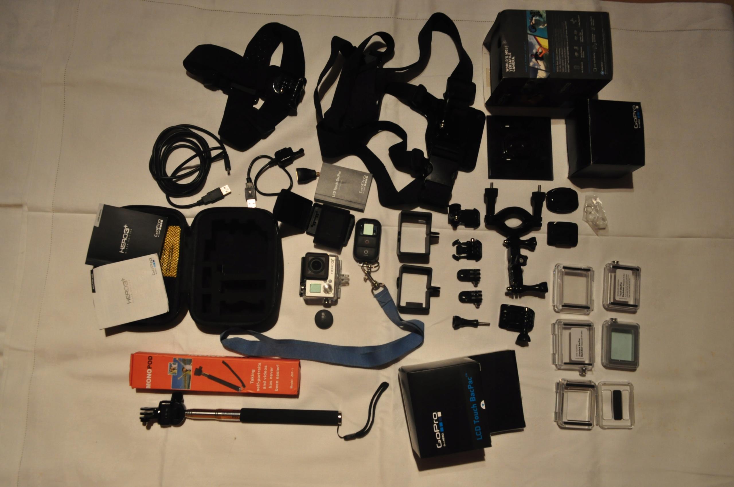 Kamera GOPRO HERO 3+ BLACK EDITION i mega zestaw