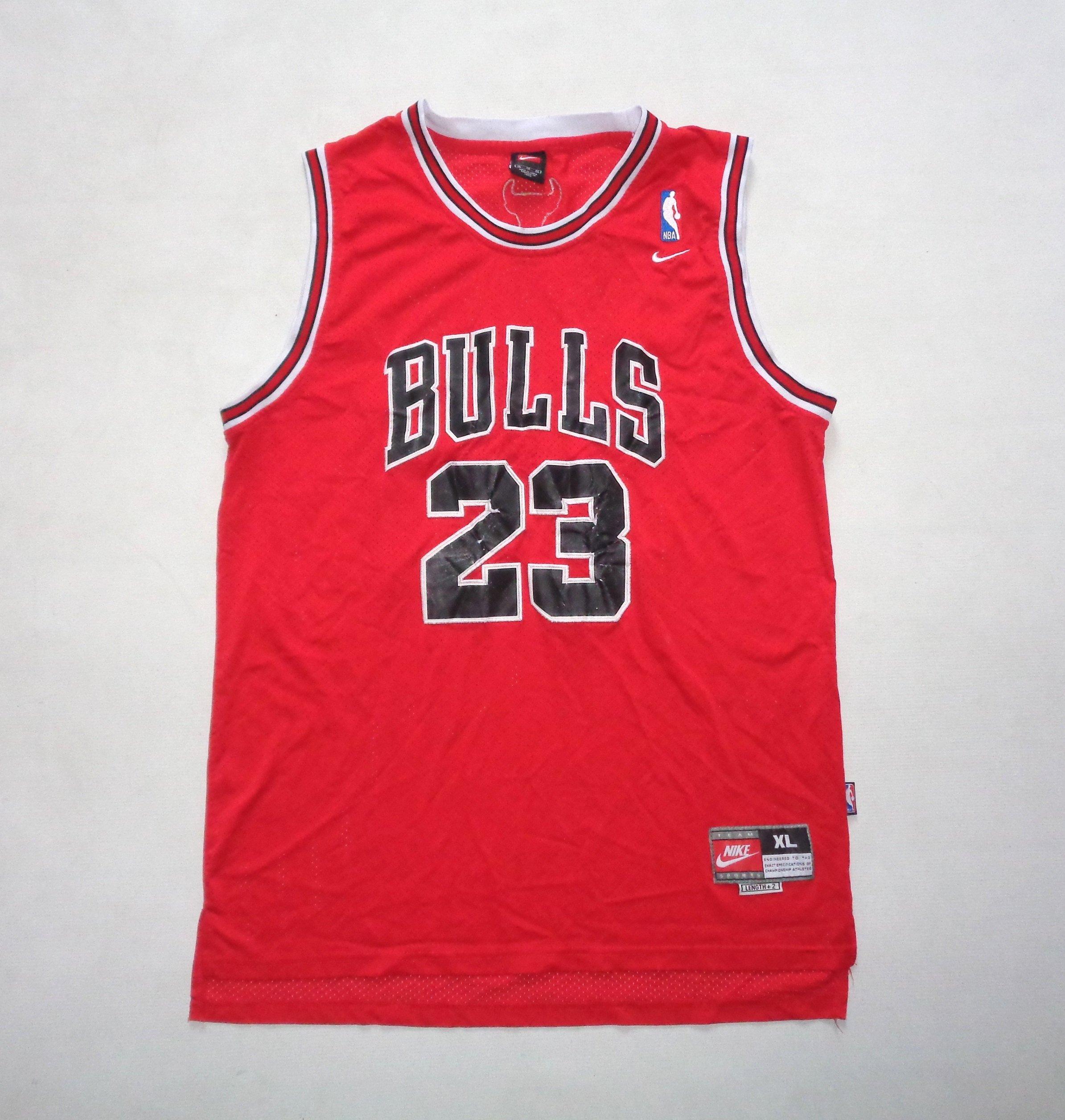 Nowość NIKE CHICAGO BULLS JORDAN 23 koszulka NBA - XL - - 7233504518 YM75
