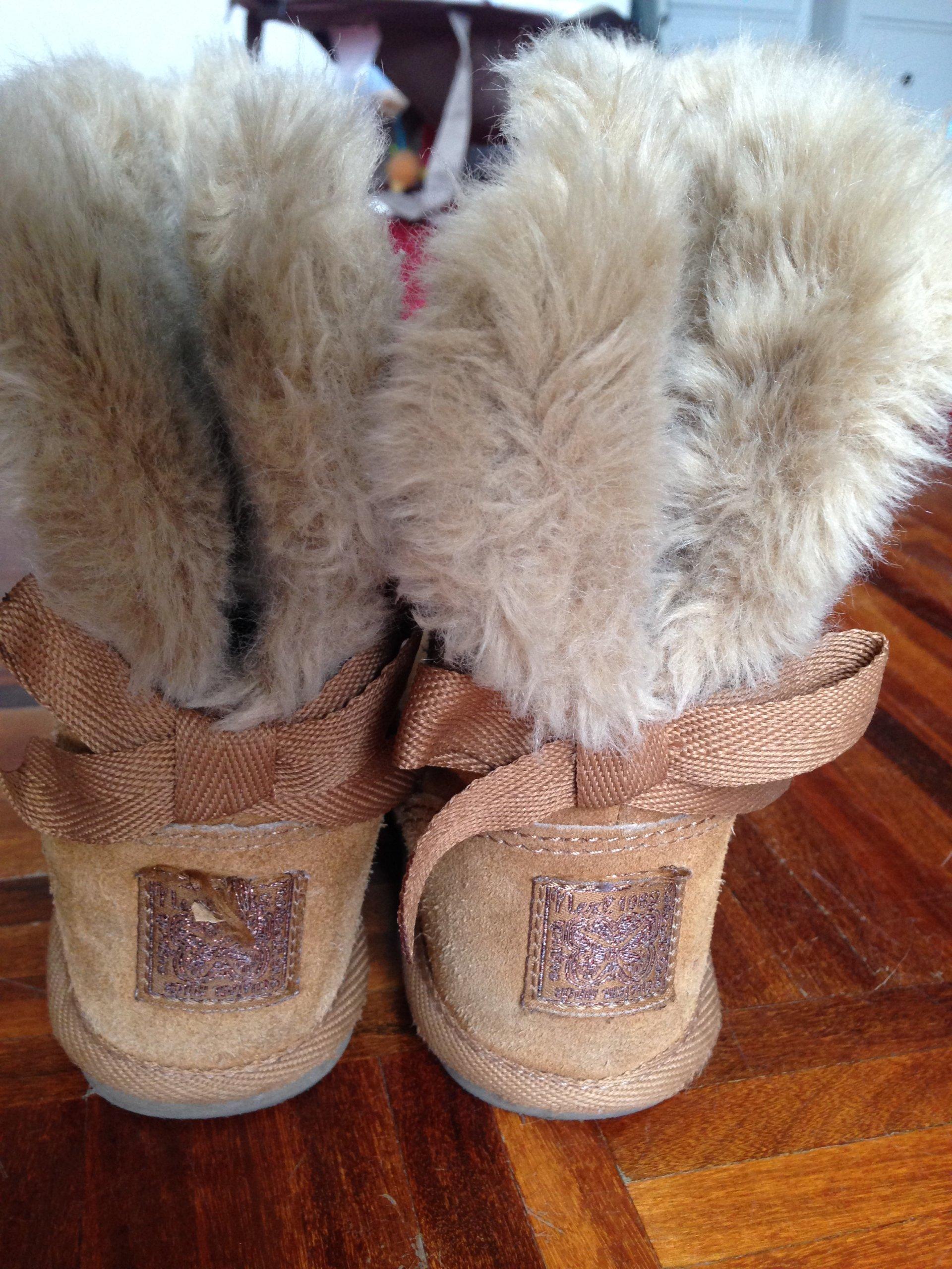 buty kozaki emu brązowe dla dziewczynki rozmiar 25