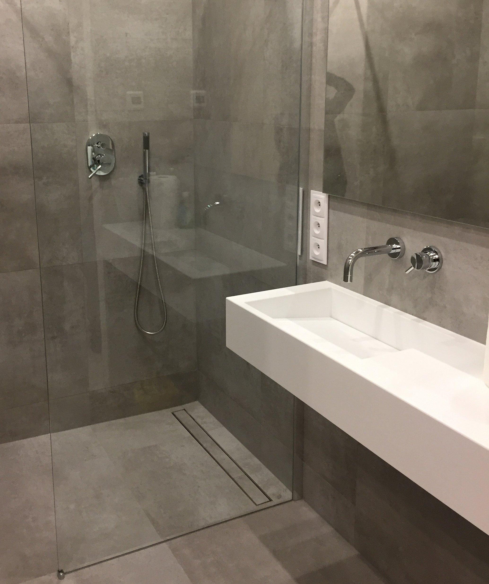 Umywalka Odpływ Liniowy Corian Blat łazienka 7054771634