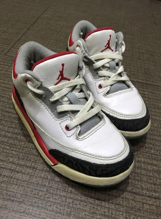 zamówienie gorąca wyprzedaż aliexpress Dziecięce buty Nike Air Jordan retro 3 III r 27,5