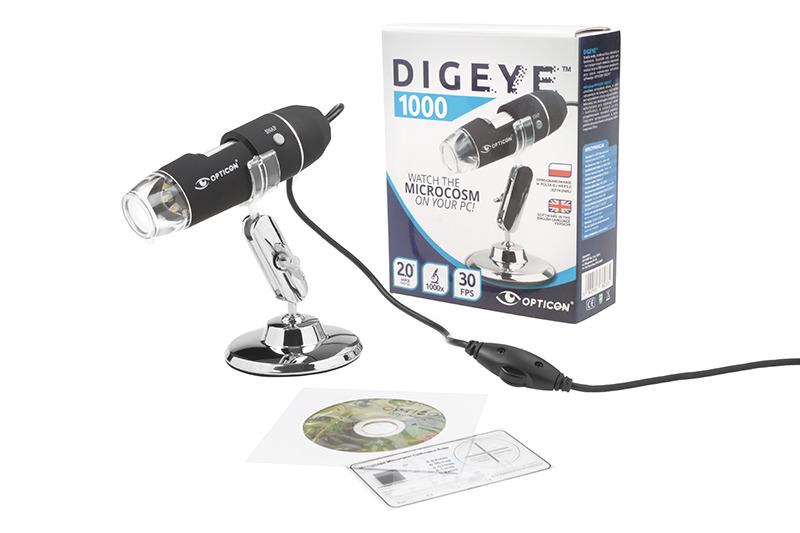 Mikroskop usb digeye 1000x prezent dla dziecka 6978492189