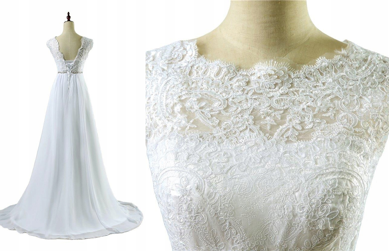 Suknia ślubna Ciążowa Wiązana 44 Xxl Na Już 7509631105 Oficjalne