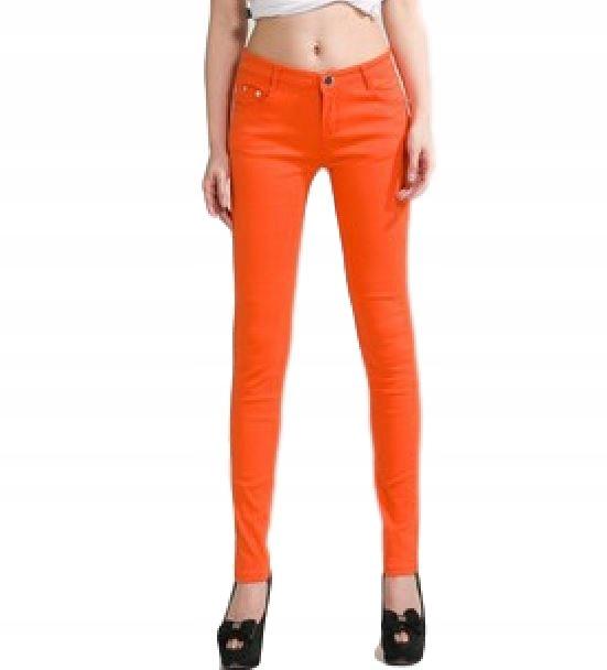 1f2be3a9 Spodnie damskie rurki obcisłe kolorowe SEXY r. L - 7298717535 ...