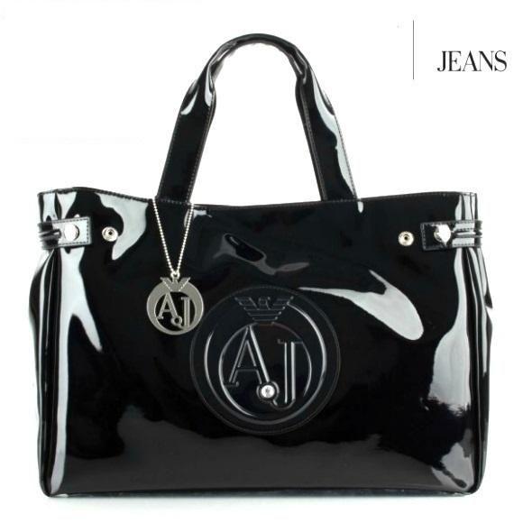 fd441a21b18e5 Armani Jeans Torebka torba lakierowana klasyka duż - 7155177716 ...