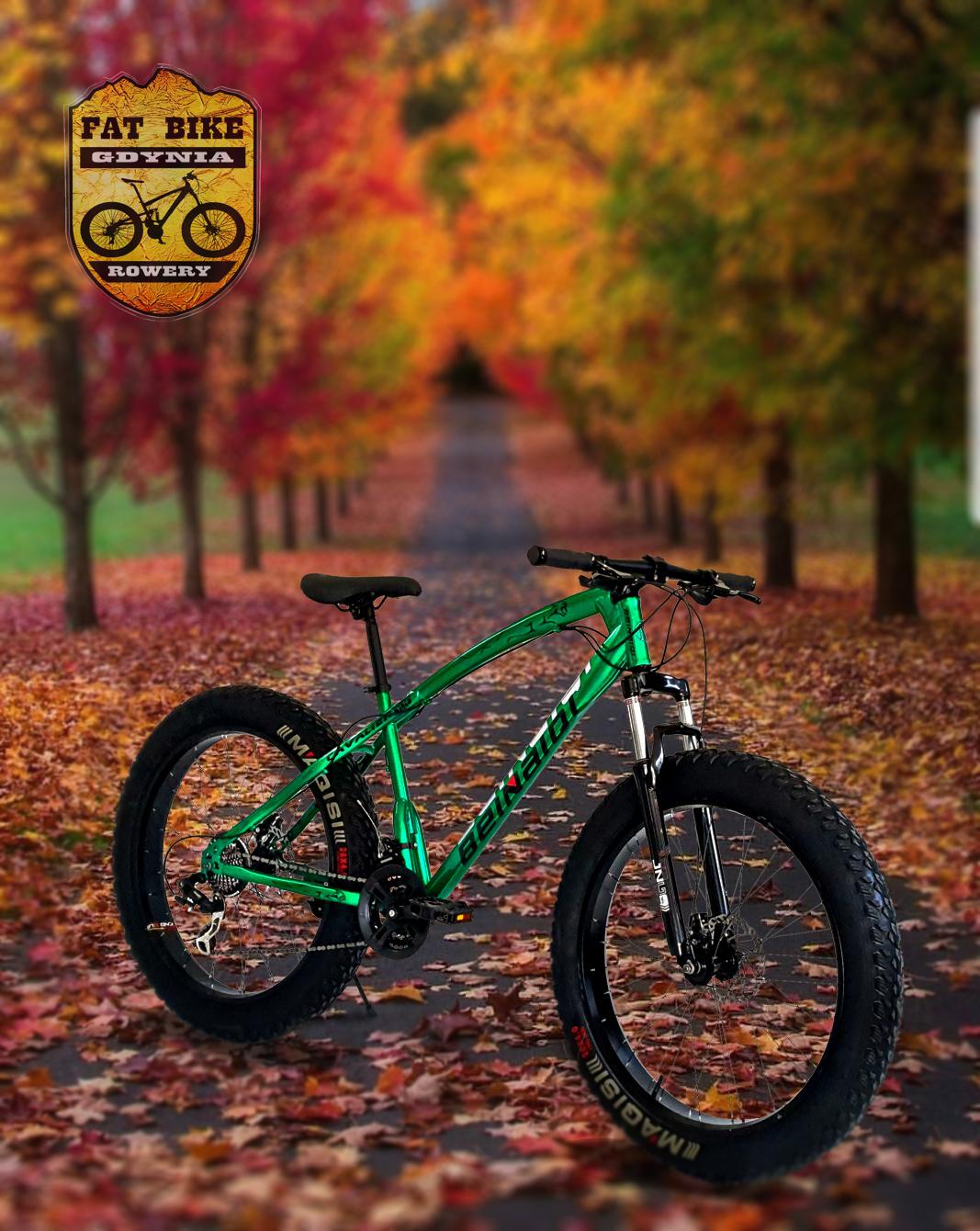 Rower Fat Bike Cavaier Zielony PROMOCJA!!
