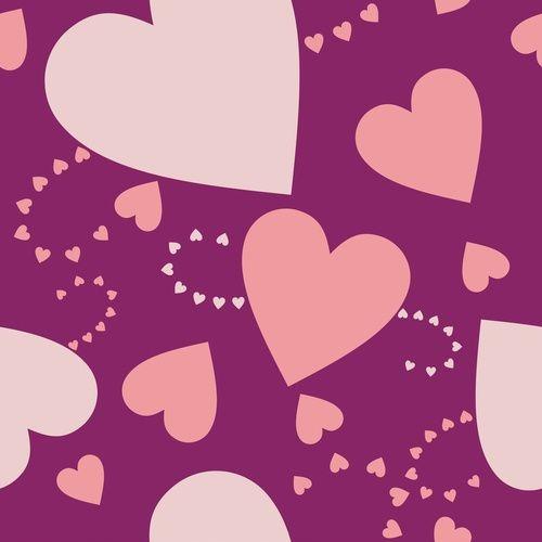 Fototapeta na wymiar serca na fioletowym