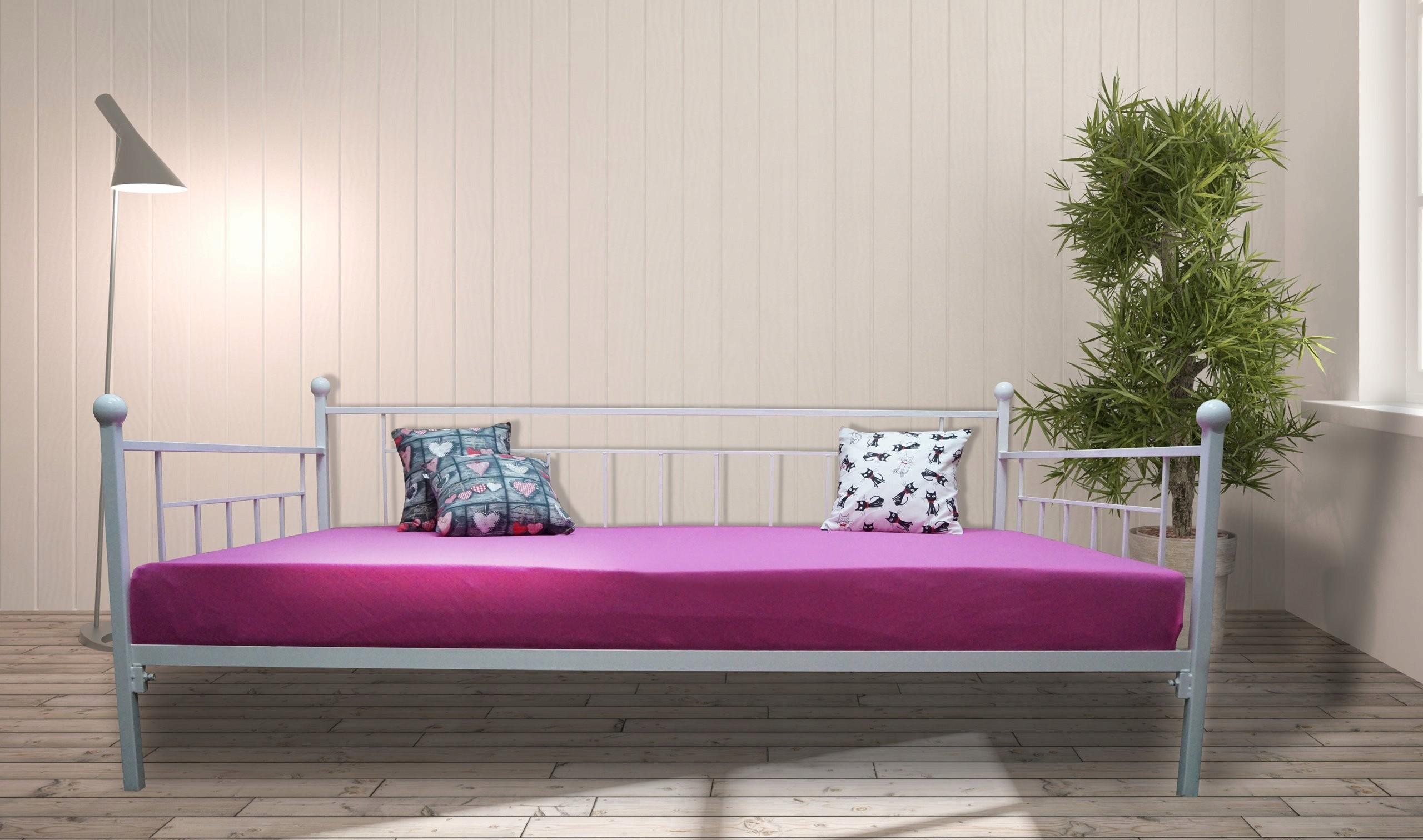 łóżko Metalowe Sofa Carmen 90x200 Kute 20 Kolorów
