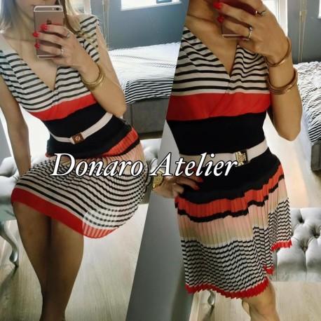 29ff5864687bb4 Sukienka plisowana ,w psy kolorowe roz.S - 7288826236 - oficjalne ...