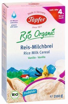 Topfer Kaszka mleczna ryżowa o sm waniliowym od 4m