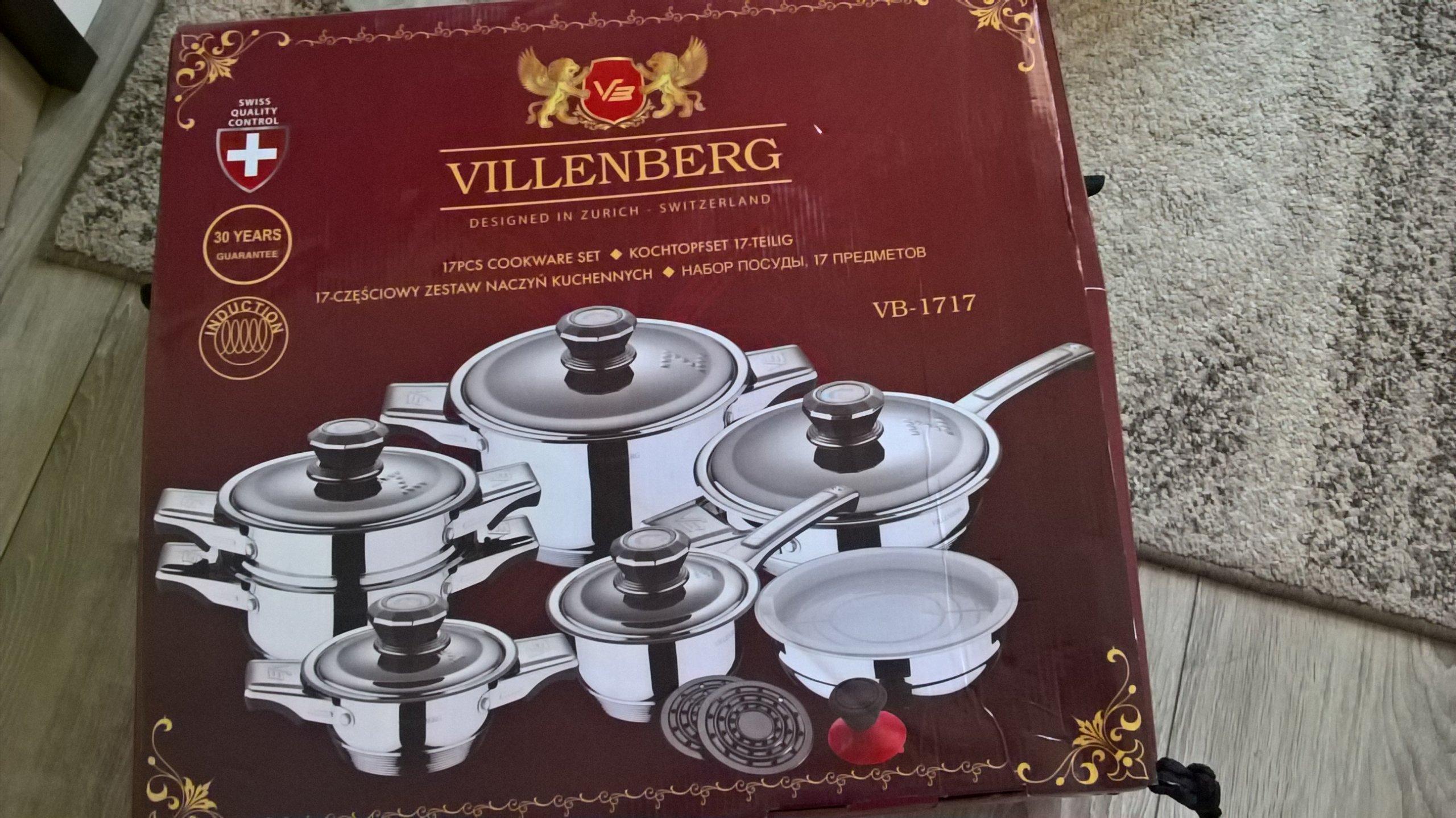 Ekskluzywny zestaw garnków VILLENBERG VB-1717