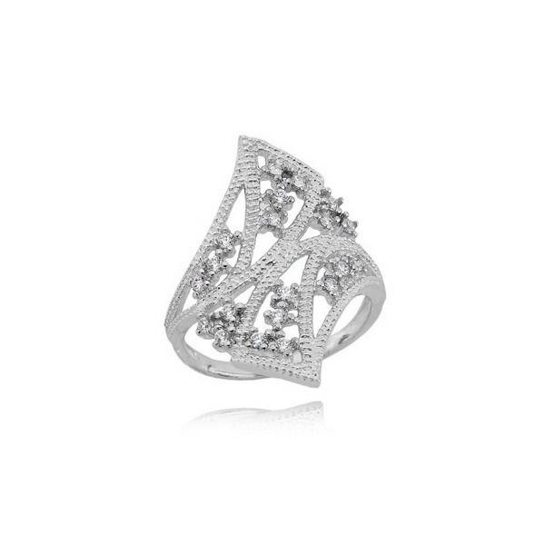 3e8e6837e7de6d Elegancki srebrny pierścionek Orient z cyrkoniami - 7417781613 ...