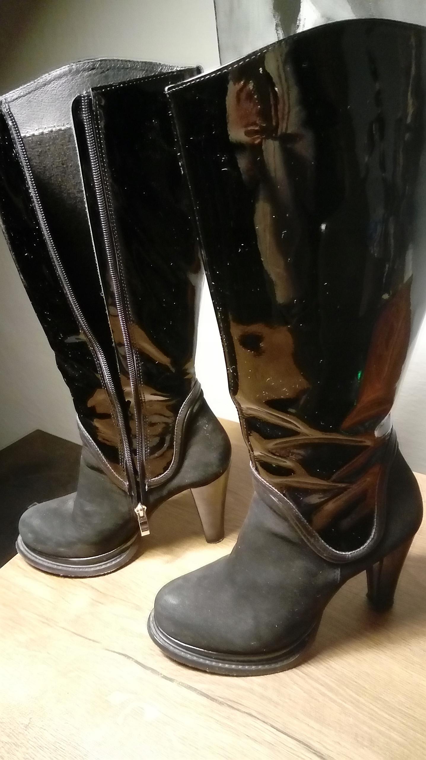 9a707567efe9e Kazar buty kozaki skóra nat.lakierowana 36 j.nowe - 7655925286 ...
