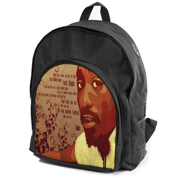 f270417d98eb6 X Szkolny plecak 2PAC Tupac Shakur różne wzory - 6876635969 ...