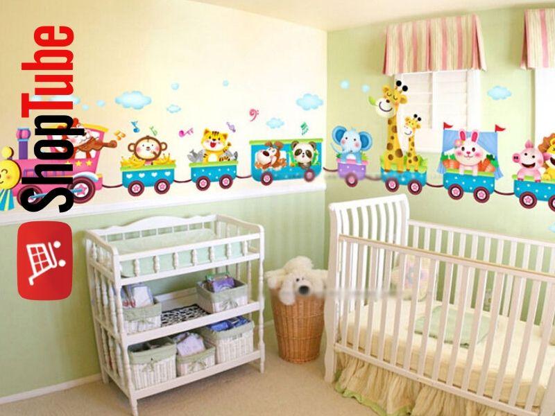 Plakat Naklejka Na ścianę Dla Dzieci Pociąg 6780311924
