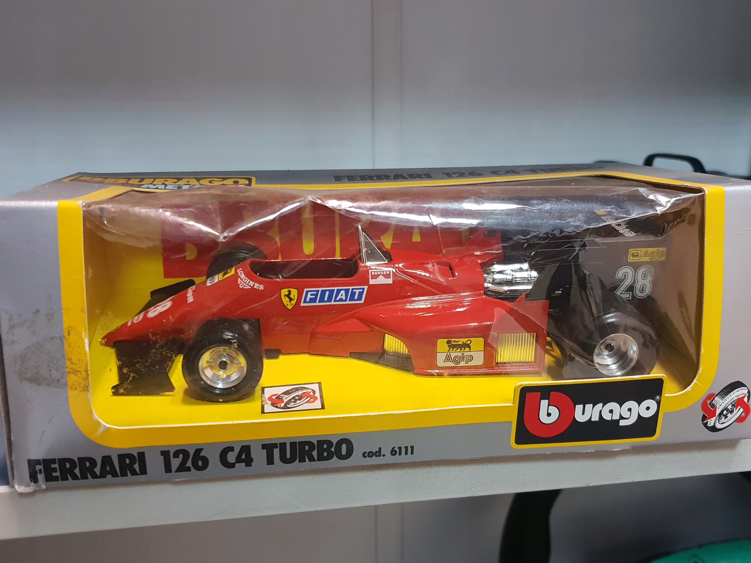 ferrari 126 C4 turbo burago 1:24