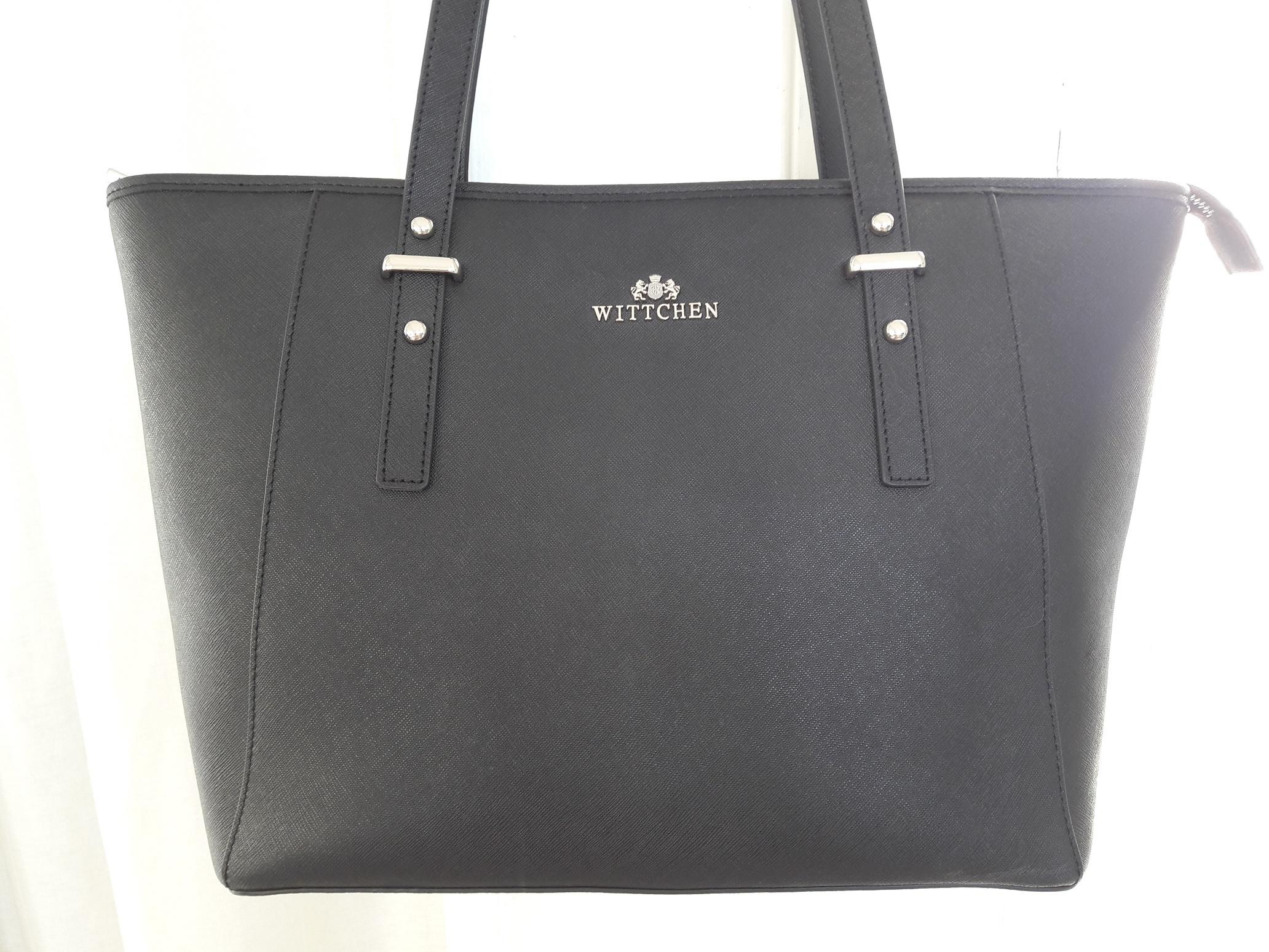 30e935c11acd8 Shopper czarna torebka skóra saffiano Wittchen a4 - 7213477474 ...