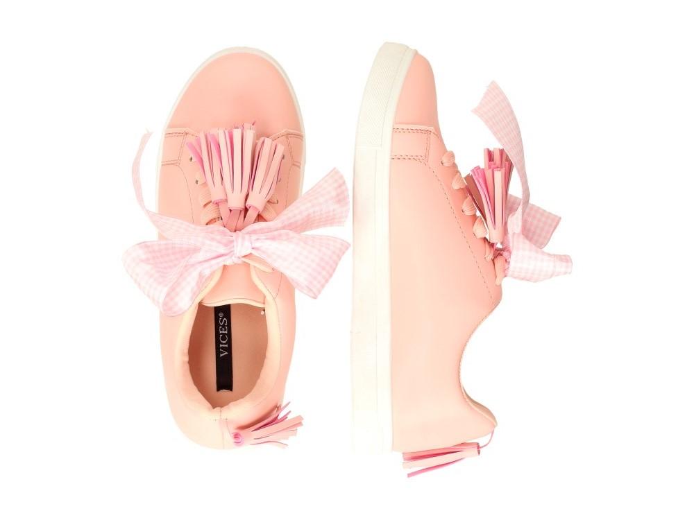 2a4a85645e3d4 Różowe buty damskie VICES 8271-20 FRĘDZLE r40 - 6930089871 ...