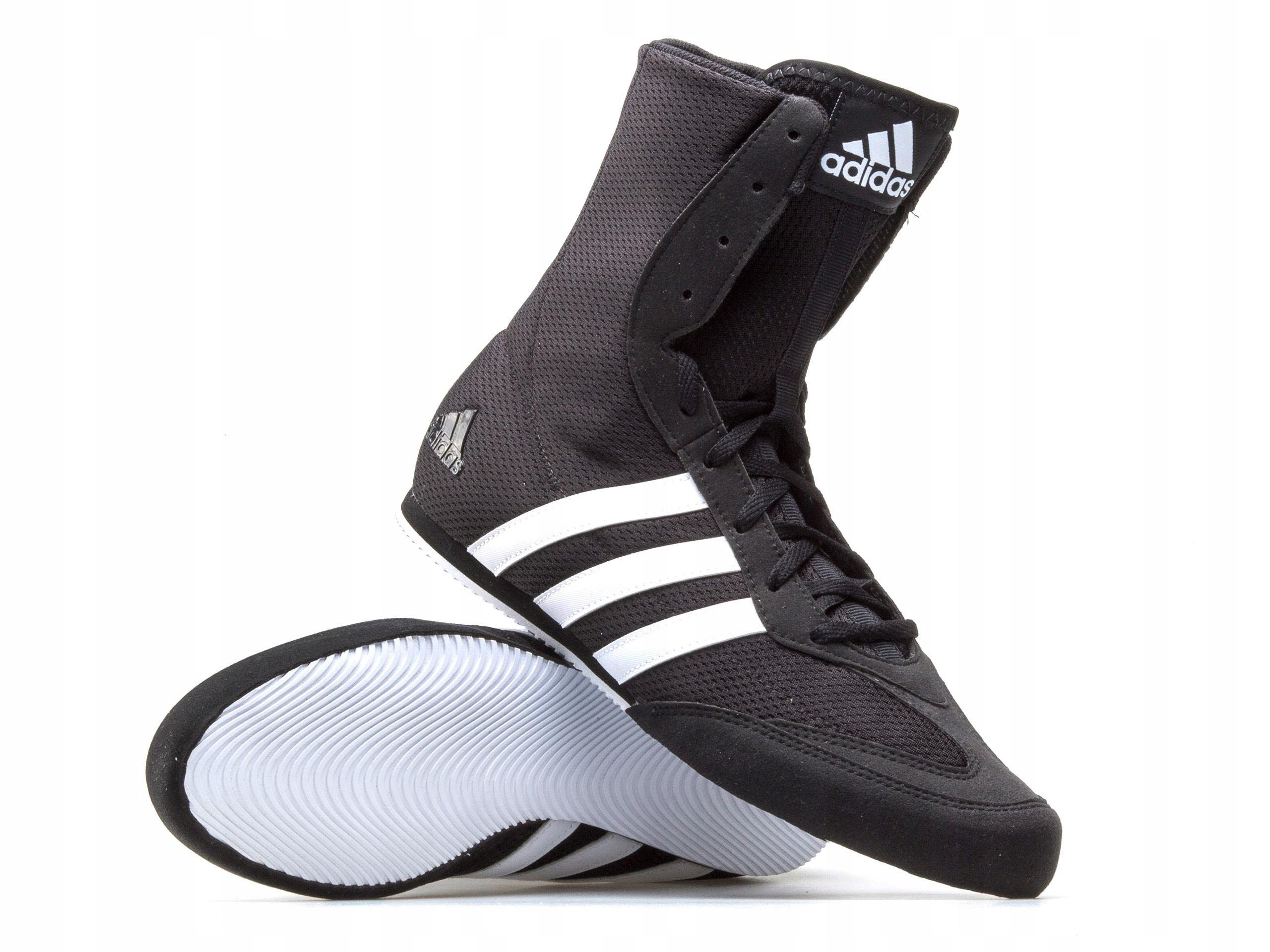 Buty bokserskie adidas Box Hog Plus białe Profesjonalny