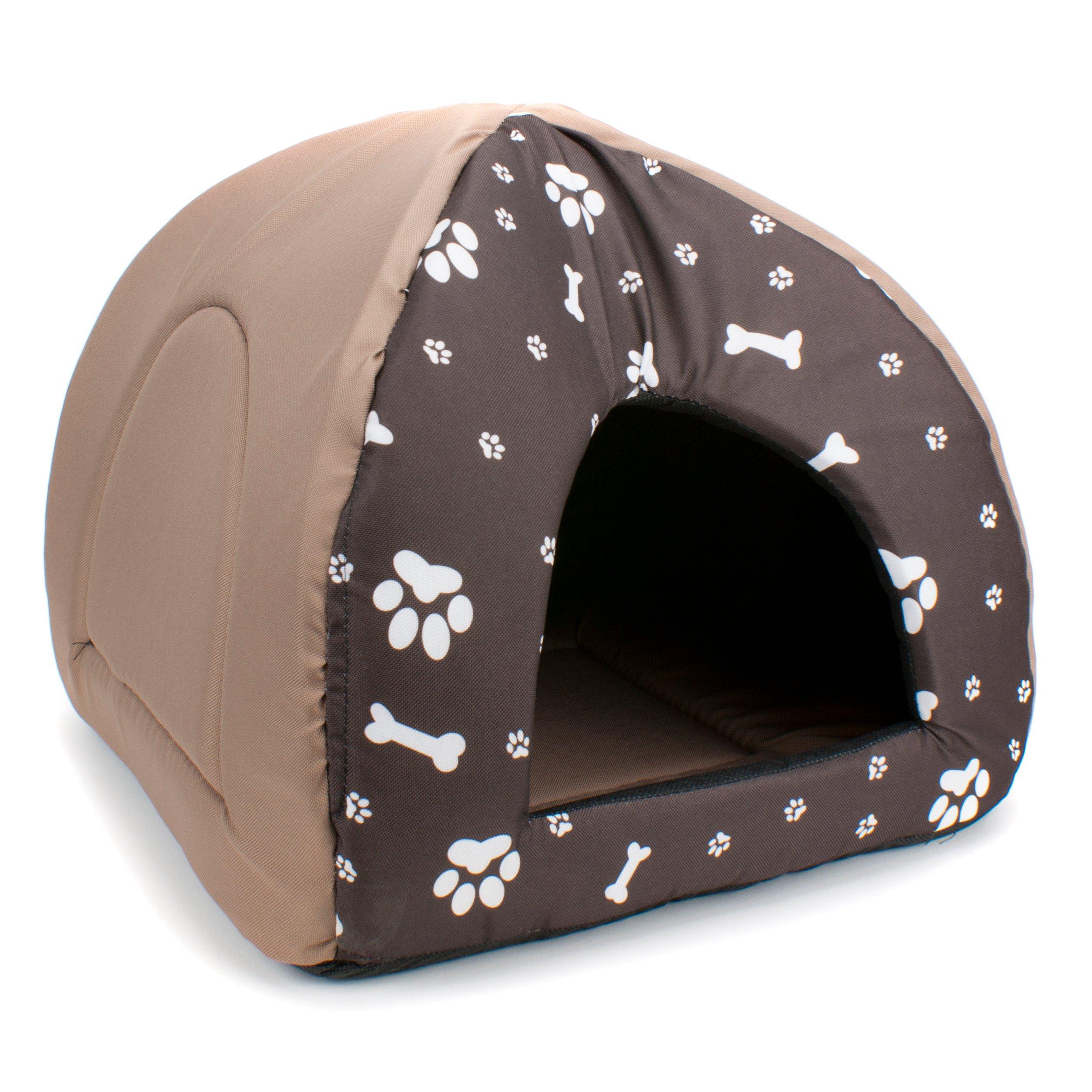 cd48c47c844e99 Domek IGLO budka dla psa kota z materiału BEŻOWY - 6834578219 ...