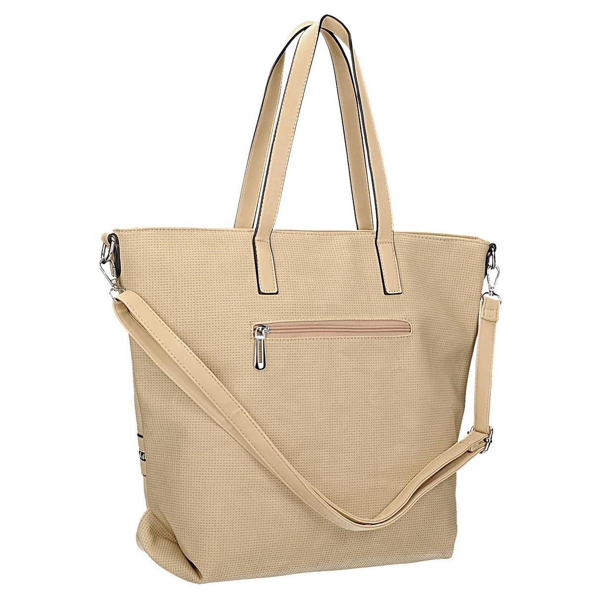 8e27478166c69 Klasyczna torebka damska w kolorze beżowym z ozdob - 7333256854 ...