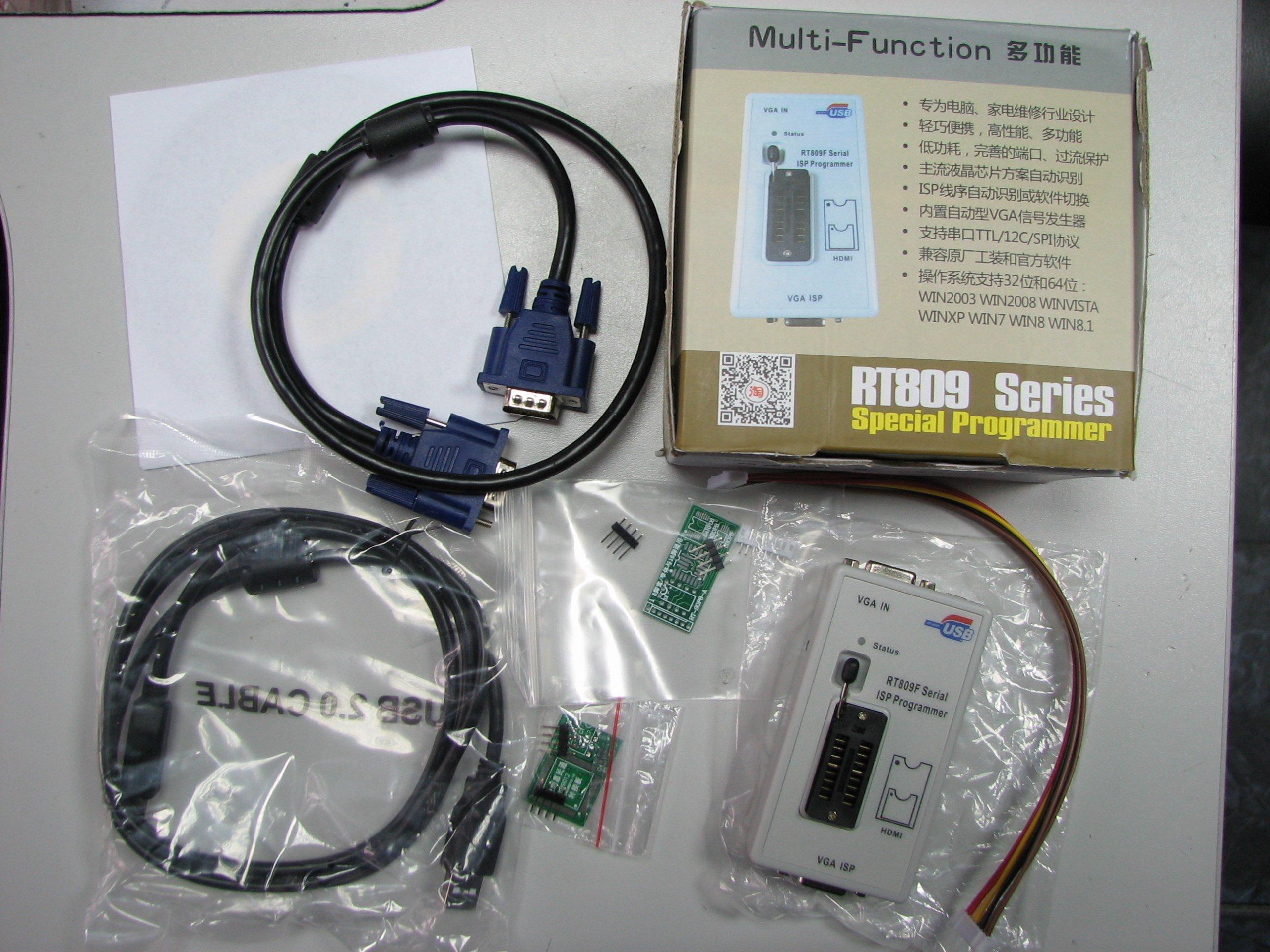 PROGRAMATOR RT809F EPROM FLASH VGA ISP KB9012QF - 6761424044