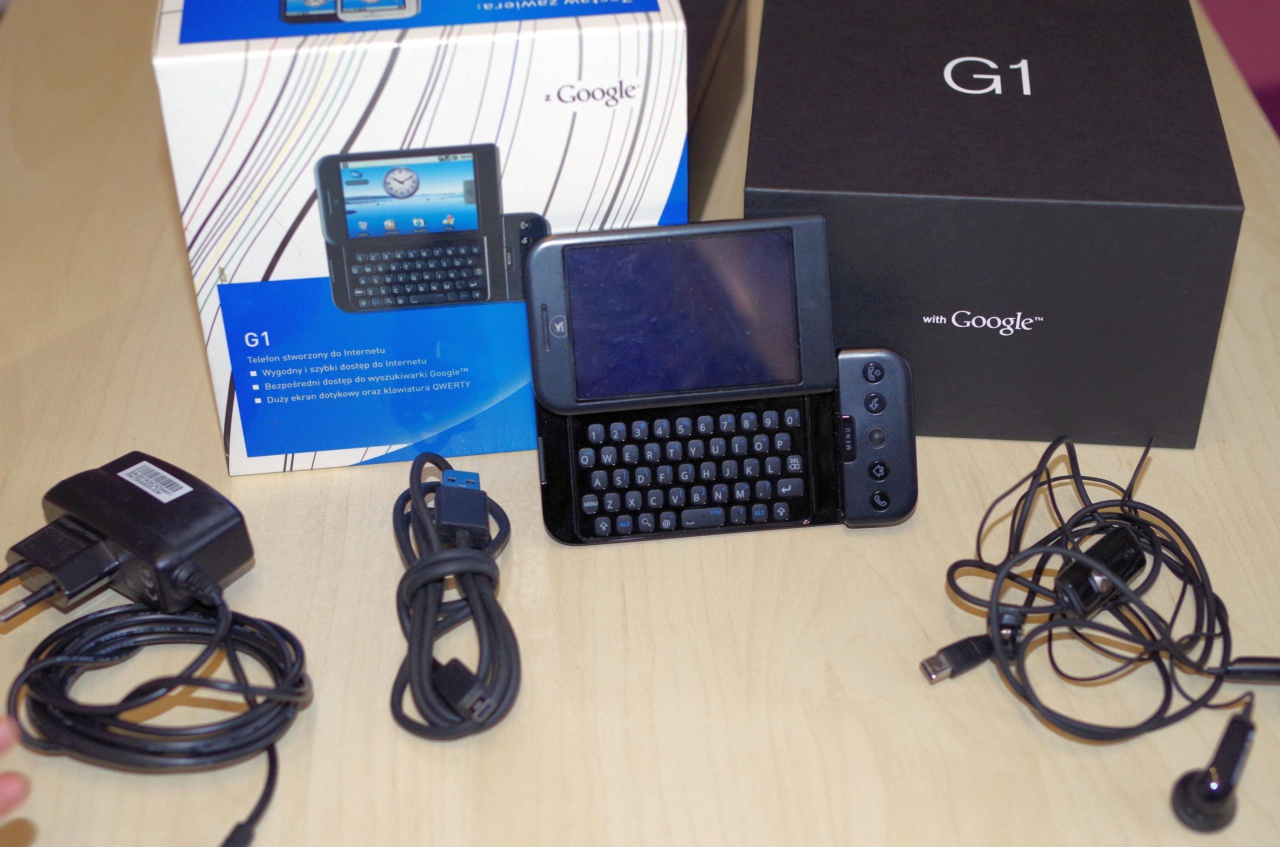 5993ea21 HTC Era G1 Dream + ładowarka + słuchawki + kabel - 7261695099 ...