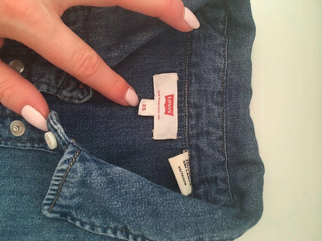 8983d39faa Sukienka jeansowa LEVIS XS nowa - 7610872587 - oficjalne archiwum ...