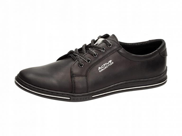 2fdf8613 Skórzane POLSKIE buty męskie POLBUT 320 czarne r45 - 7546365897 ...