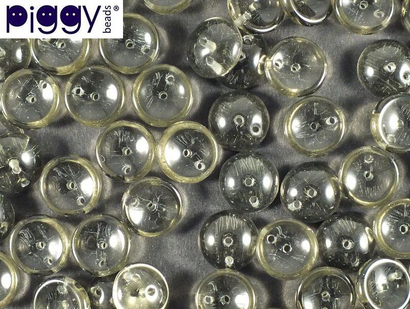 Piggy Beads Black Diamond 8x4 mm - 40 szt
