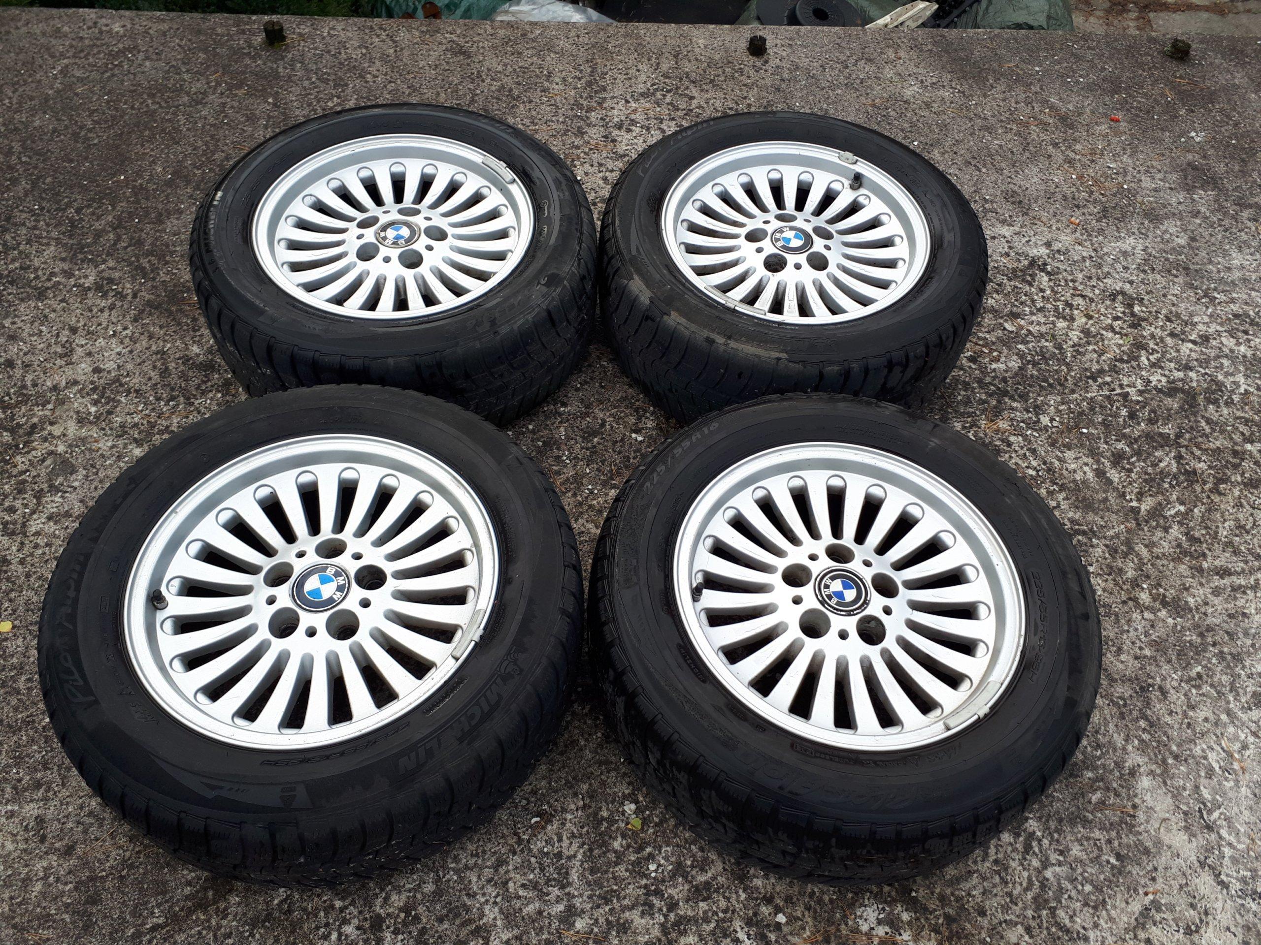 Felgi Aluminiowe Z Opony Zimowe 16 Bmw E39 5x120 7058509400