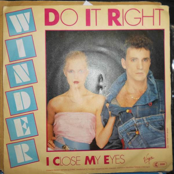 Do it right/I close my eyes - Winder Winyl lp