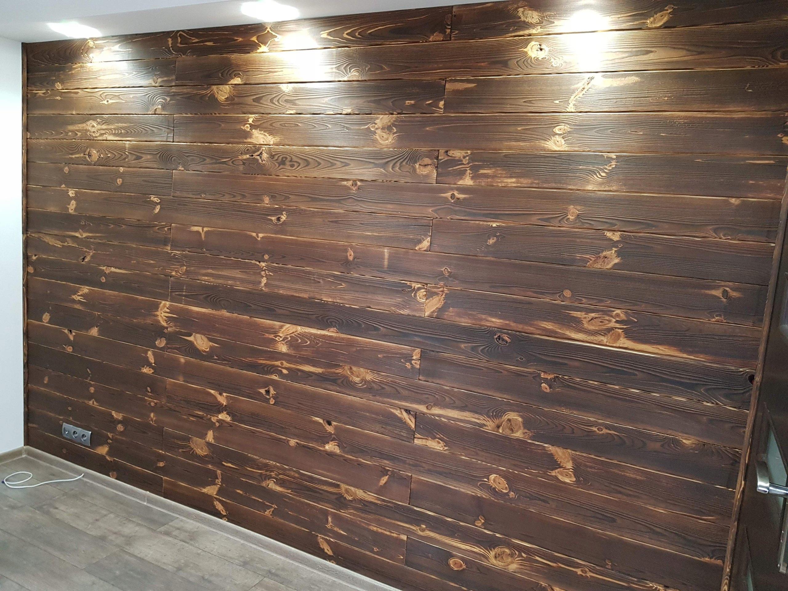 Deski Na ścianę Brązowe Ciemne Jasne Szare Drewno